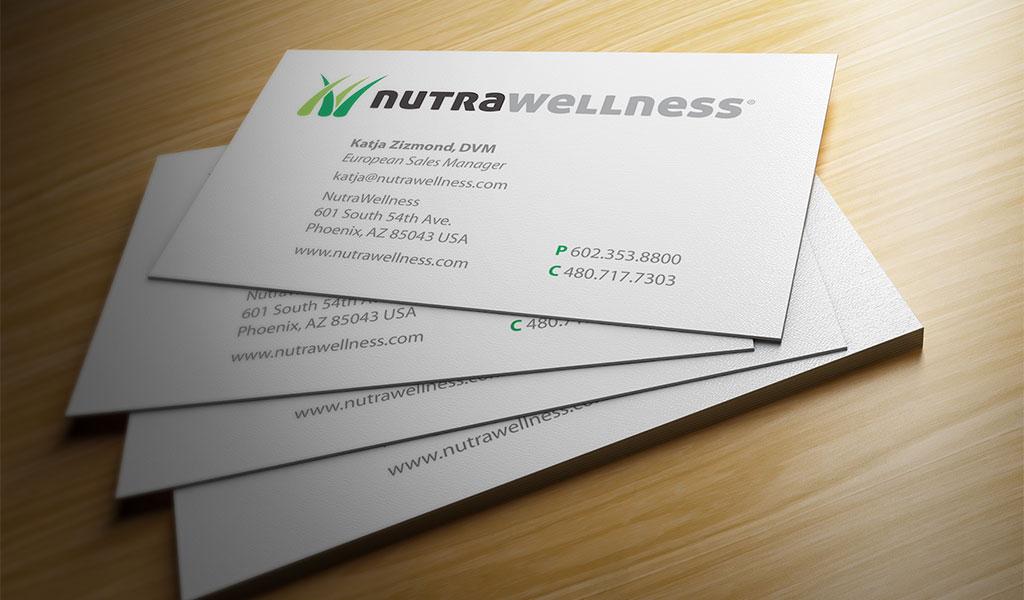 Business Card design for NutraWellness - Diseño Gráfico Santiago ...